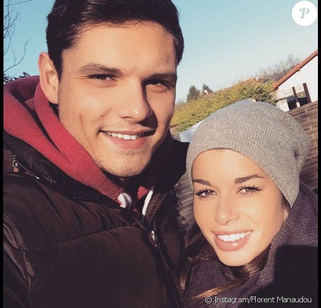 Florent Manaudou et Fanny Skalli, photo publiée sur le compte Instagram de Fanny Skalli le 1er janvier 2015