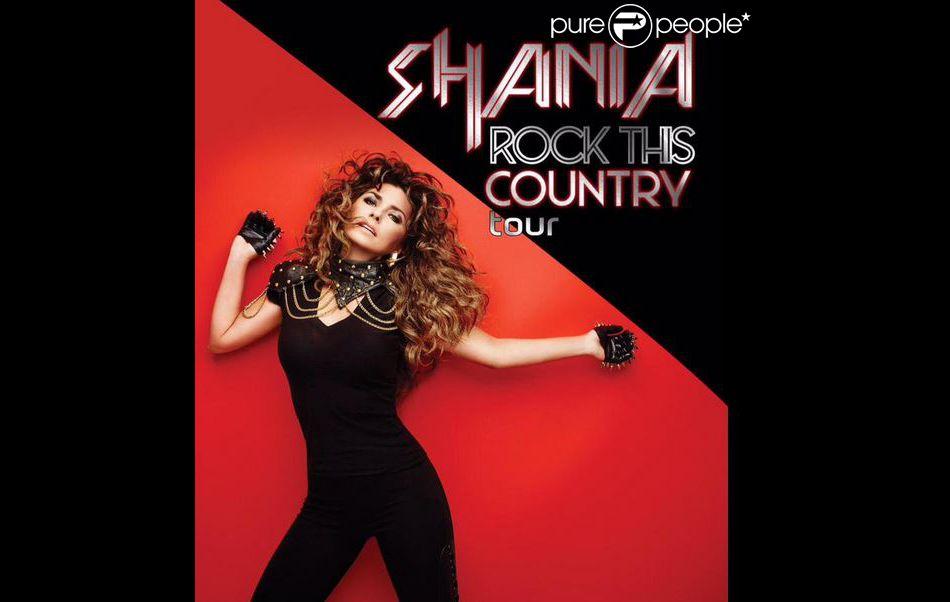 Shania Twain a dévoilé l'affiche de sa dernière tournée Rock This Country Tour