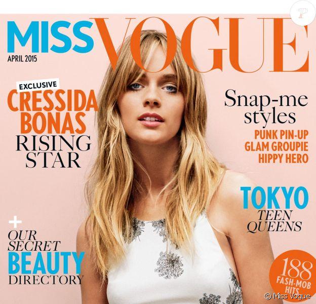 Cressida Bonas en couverture de Miss Vogue UK, avril 2015