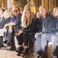 Mario Testino, Poppy et Cara Delevingne, Woody Harrelson, Kanye West, Paul McCartney, Nancy Shevell et Alasdhair Willis assistent au défilé Stella McCartney automne-hiver 2015-2016 à l'Opéra de Paris. Paris, le 9 mars 2015.