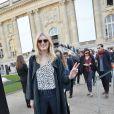 Lily Donaldson au Grand Palais lors du défilé Chloé automne-hiver 2015-2016. Paris, le 8 mars 2015.