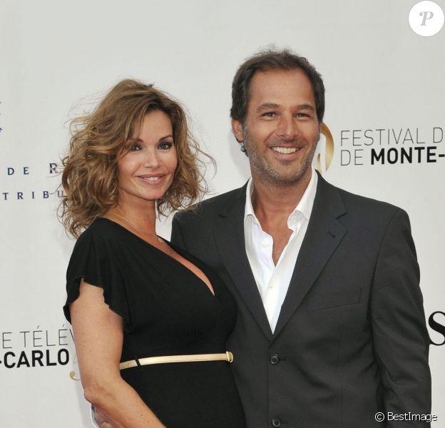 Ingrid Chauvin, enceinte et son mari Thierry Peythieu, lors de la cérémonie d'ouverture du 53eme festival de Monte Carlo au Forum Grimaldi a Monaco, le 9 juin 2013.