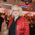 """Josiane Balasko - Tournage du film """"C'est le métier qui rentre"""" d'après le roman de Sylvie Testud sur le plateau de Vivement Dimanche à Paris le 11 mars 2015."""