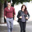 Chris Evans avec une mystérieuse femme à Los Angeles, le 20 janvier 2015