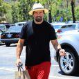 Rick Salomon fait du shopping à Calabasas, le 16 juillet 2014. Rick ne porte plus son alliance depuis l'annonce de son second divorce avec Pamela Anderson.