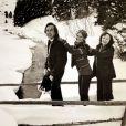 Exclusif - Photo issue de la collection privée de Gérard Montel, grand ami de Brigitte Bardot. Il est décédé le 11 mars 2015. Gérard Montel, dit La Perruque, et sa première gouvernante, Madame Jeanne, en vacances à Méribel en 1980