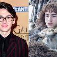 """Isaac Hempstead-Wright à l'avant-première mondiale de la saison 5 de """"Game of Thrones"""" organisée à Londres, le 18 mars 2015."""