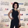 """Nathalie Emmanuel à l'avant-première mondiale de la saison 5 de """"Game of Thrones"""" organisée à Londres, le 18 mars 2015."""