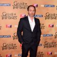 """Michael McElhatton à l'avant-première mondiale de la saison 5 de """"Game of Thrones"""" organisée à Londres, le 18 mars 2015."""