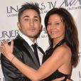 Vivian et Nathalie (Secret Story 8) - Cérémonie des Lauriers TV Awards 2015 à la Cigale à Paris, le 6 janvier 2015.