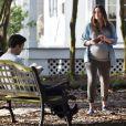 """Exclusif - Jessica Biel enceinte et Jason Sudeikis sur le Tournage du film """"The Devil And The Deep Blue Sea"""" à la Nouvelle-Orléans, les 22 et 23 février 2015."""