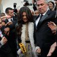 """Selena Gomez à la sortie du défilé de mode """"Louis Vuitton"""", collection prêt-à-porter automne-hiver 2015/2016, à Paris. Le 11 mars 2015"""