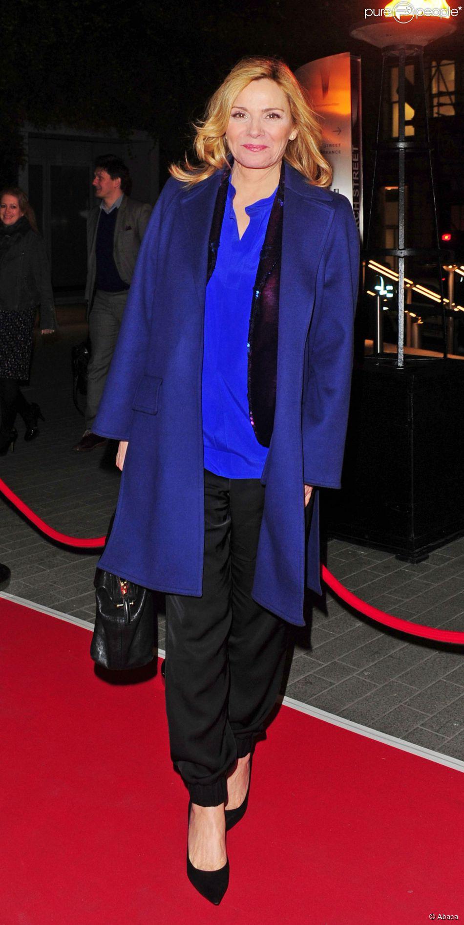 Kim Cattrall à Londres le 3 mars 2015