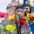 Marie Gillain célèbre le printemps à Disneyland Paris. Mars 2015