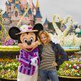 Hélène de Fougerolles célèbre le printemps à Disneyland Paris. Mars 2015