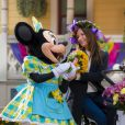 Ana Girardot célèbre le printemps à Disneyland Paris. Mars 2015