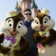 Chris Colfer célèbre le printemps à Disneyland Paris. Mars 2015