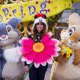 Caroline de Maigret célèbre le printemps à Disneyland Paris. Mars 2015