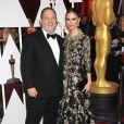 Harvey Weinstein et sa femme Georgina Chapman à la 87ème cérémonie des Oscars à Hollywood, le 22 février 2015