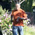 Exclusif - Laurence Fishburne se rend chez Harold Perrineau Jr. pour lui montrer sa nouvelle voiture a West Hollywood, le 25 aout 2013.