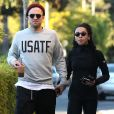 Exclusif -Robert Pattinson est allé déjeuner avec sa petite amie FKA Twigs à Los Angeles le 21 novembre 2014.