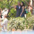 """Vin Diesel et Jordana Brewster sur le tournage du film """"Fast and Furious 7"""" à Los Angeles le 2 juin 2014."""