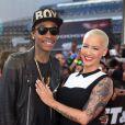 """Wiz Khalifa et Amber Rose - Premiere du film """"Fast & Furious 6"""" a Universal City, le 21 mai 2013."""