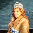 Camille Cerf (Miss France 2015), à Coulogne dans le Pas-de-Calais, le 20 décembre 2014.