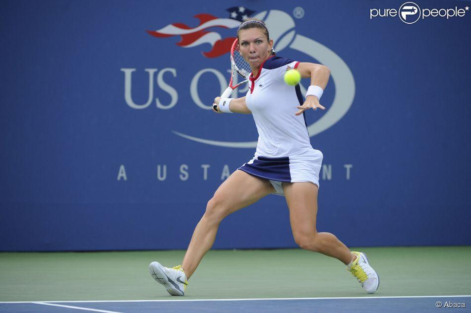 Simona Halep à l'US Open le 2 septembre 2013.