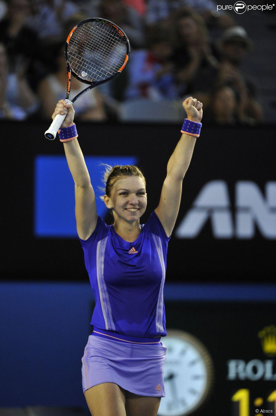 Simona Halep à l'Open d'Australie, Melbourne, le 25 janvier 2015.