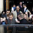 Ryan Gosling faisant la promotion de son film Lost River à Paris le 7 avril 2015