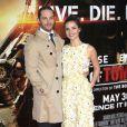 """Tom Hardy, Charlotte Riley lors de la première mondiale du film """"Edge of Tomorrow"""" à Londres, le 27 mai 2014"""
