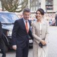 La princesse Mary et le prince Frederik à Aarhus. La reine Margrethe II de Danemark célébrait le 8 avril 2015 à Aarhus son 75e anniversaire (en date du 16 avril), entourée du prince consort Henrik, du prince Frederik et de la princesse Mary, et du prince Joachim et de la princesse Marie.