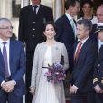 La reine Margrethe II de Danemark célébrait le 8 avril 2015 à Aarhus son 75e anniversaire (en date du 16 avril), entourée du prince consort Henrik, du prince Frederik et de la princesse Mary, et du prince Joachim et de la princesse Marie.