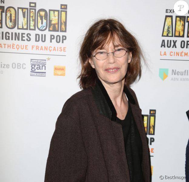 Jane Birkin - Vernissage de l'exposition Antonioni à la Cinémathèque de Paris le 18 avril 2015.