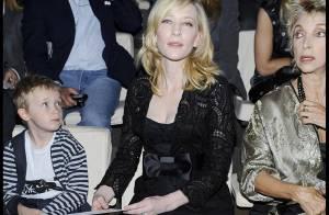 PHOTOS : Cate Blanchett, jamais sans son fils... même au défilé de la Fashion Week !