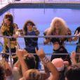 Twisted Sister, image du clip  I Wanna Rock  (1984). A. J. Pero, batteur du groupe, est mort le 20 mars 2015. Le groupe, qui a annoncé son ultime tournée en 2016, lui rendra hommage sur scène lors de deux concerts en mai et juin 2015.