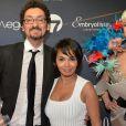 David Foenkinos (Globe du meilleur Roman Essai) et Saïda Jawad - La 10ème cérémonie des Globes de Cristal au Lido à Paris, le 13 avril 2015