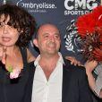 Isabelle Mergault et Jean-Louis Barcelona - La 10ème cérémonie des Globes de Cristal au Lido à Paris, le 13 avril 2015