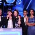 Exclusif - Hichem Yacoubi, Elsa Zylberstein, Sylvie Pialat (productrice), Toulou Kiki, Abel Jafri - La 10ème cérémonie des Globes de Cristal au Lido à Paris, le 13 avril 2015