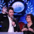 Exclusif - Jalil Lespert et Claudia Cardinale - La 10ème cérémonie des Globes de Cristal au Lido à Paris, le 13 avril 2015