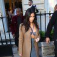 Kanye West et Kim Kardashian quittent le Montaigne Market à Paris. Le 14 avril 2015.