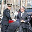 Thierry Braillard, secrétaire d'État aux Sports - Obsèques de Patrice Dominguez en la Basilique Sainte-Clotilde à Paris le 16 avril