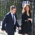 Nicolas Sarkozy - Obsèques de Patrice Dominguez en la Basilique Sainte-Clotilde à Paris le 16 avril 2015