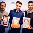 Sam Smith porte un portrait de lui enfant, sur Instagram le 30 mars 2015