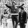 Bruce Jenner, médaille d'or de décathlon aux J.O. de Montréal. Juillet 1976.