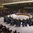 Angelina Jolie parle des réfugiés syriens lors d'une conférence à l'ONU, le 24 avril 2015.