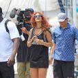 Rihanna profite de ses vacances à Honolulu, à Hawaï. Le 24 avril 2015.