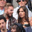 M. Pokora et Scarlett Baya assistent aux Internationaux de France de tennis de Roland-Garros à Paris le 2 juin 2014.