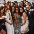 Salma Hayek (habillée par Elie Saab) lors du dîner Ultimate Gift Fund à Beyrouth le 27 avril 2015